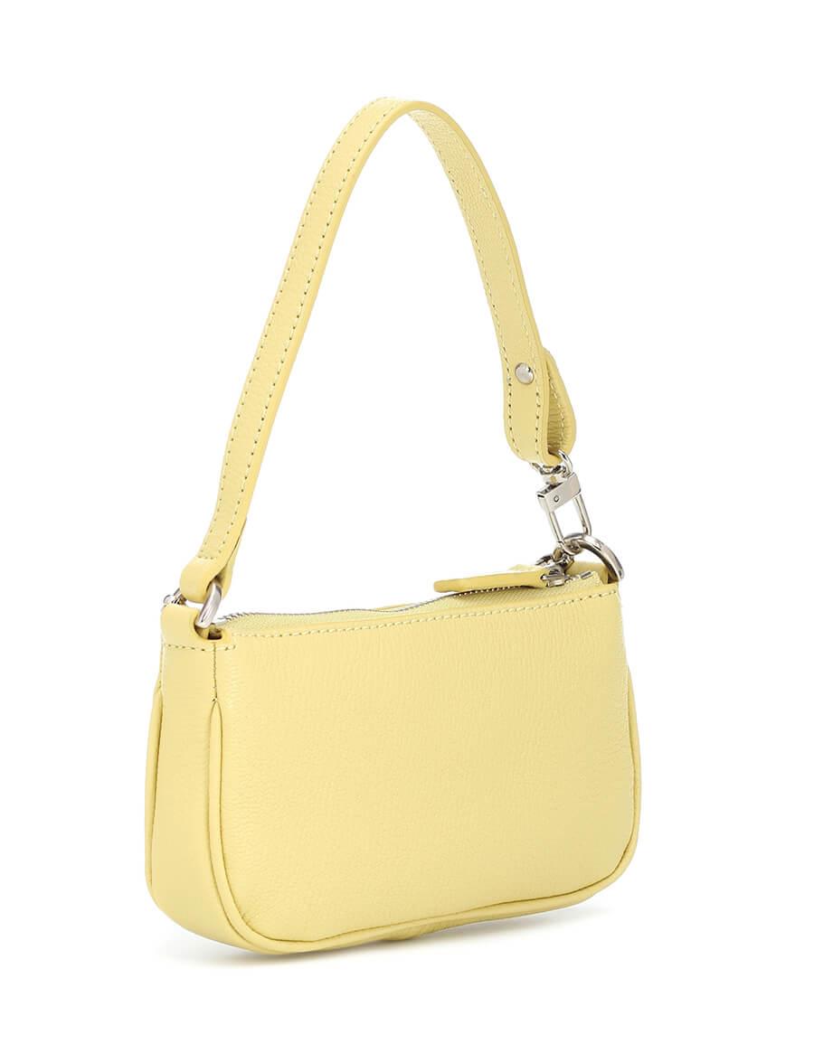 BY FAR Rachel Mini leather shoulder bag