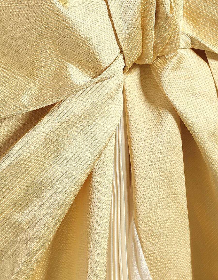 MARNI Twist bow satin midi dress