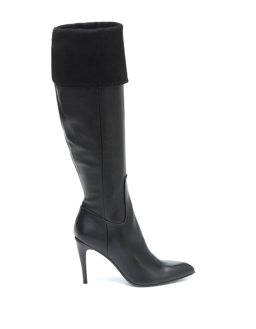 MAX MARA Bonnet knee high leather boots