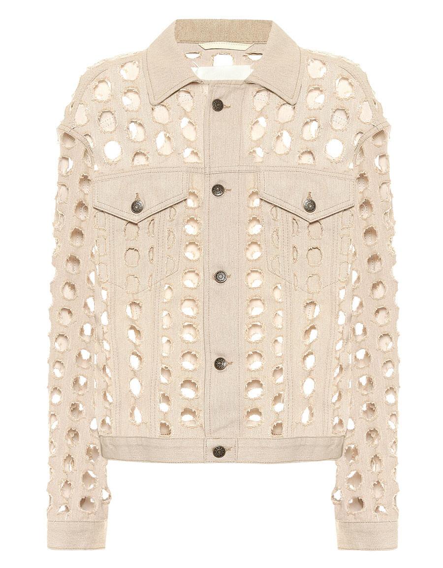 MAISON MARGIELA Perforated denim jacket
