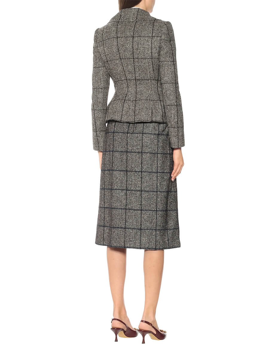 DOLCE & GABBANA Checked wool blend jacket