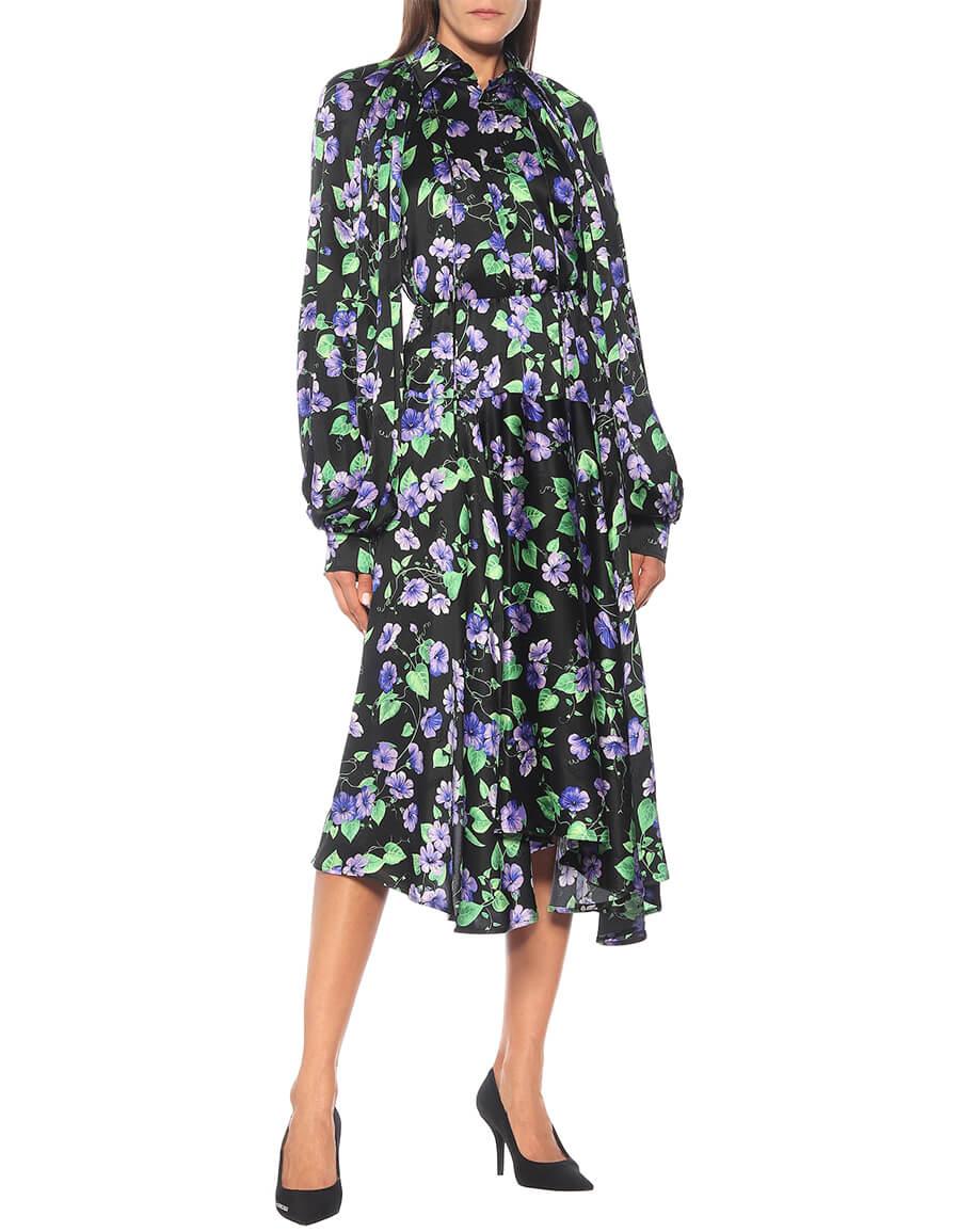 BALENCIAGA Floral silk shirt