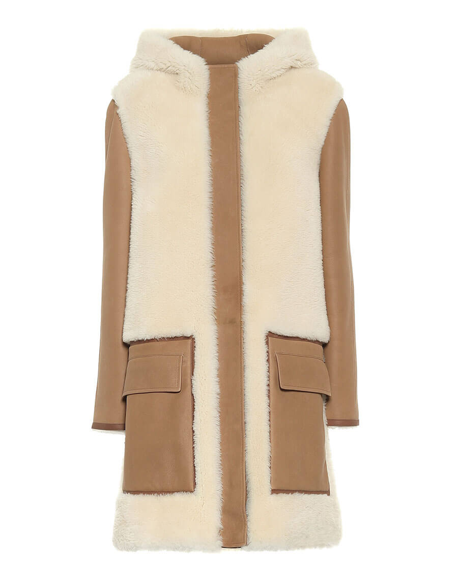 LORO PIANA Morrison shearling and leather jacket