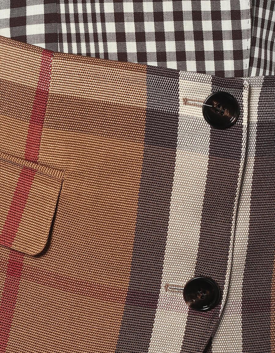 BURBERRY Checked wool blend blazer