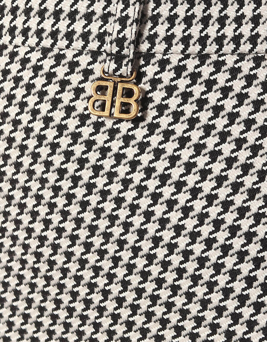 BALENCIAGA Twisted wool blend miniskirt