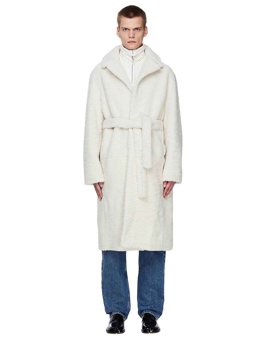 VETEMENTS Ivory Sheepskin Coat