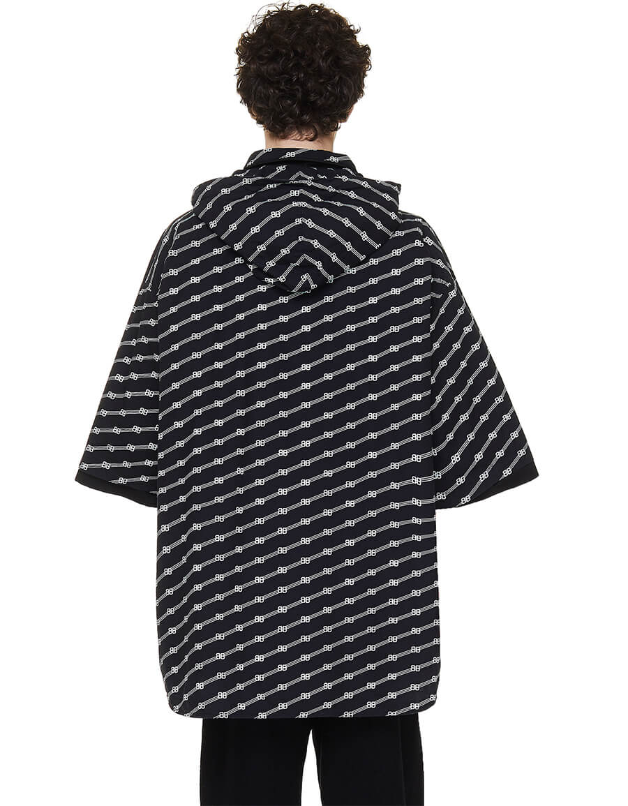 BALENCIAGA All Over Logo Windbreaker Shirt
