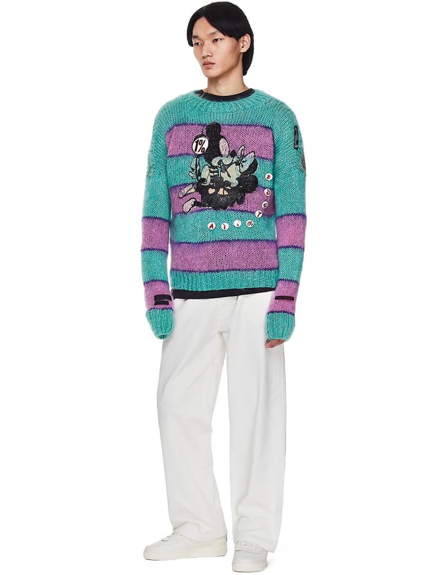 99% IS Stripped Wool Sweater