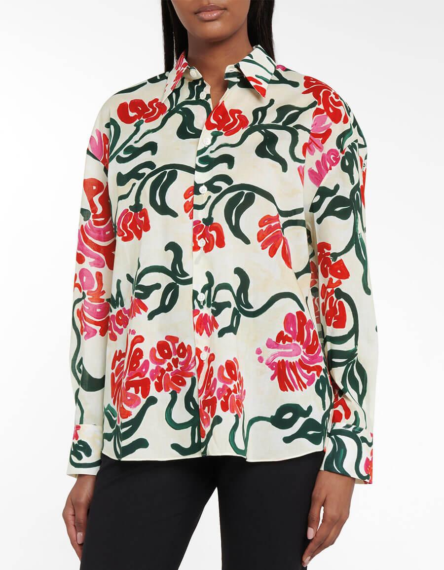 MARNI Floral cotton shirt