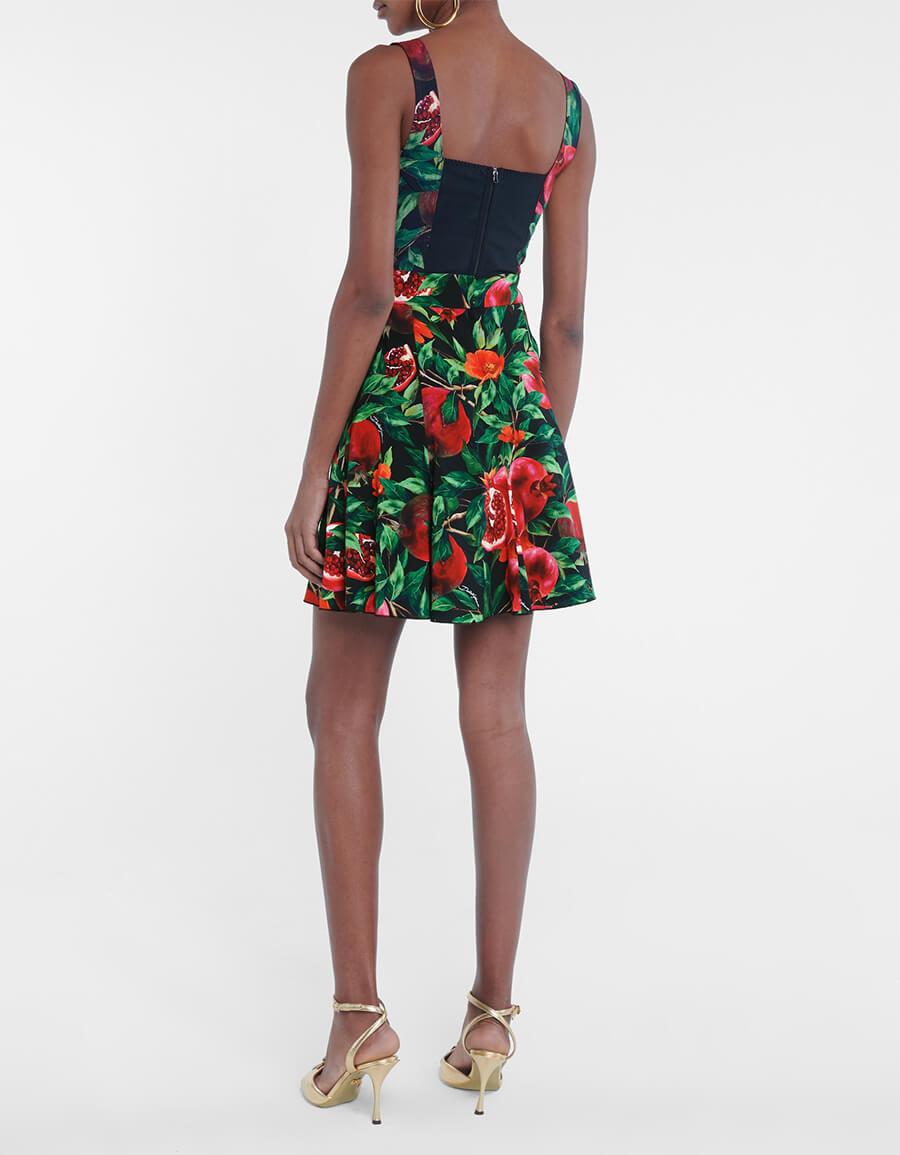 DOLCE & GABBANA Exclusive to Mytheresa – Pomegranate print midi skirt