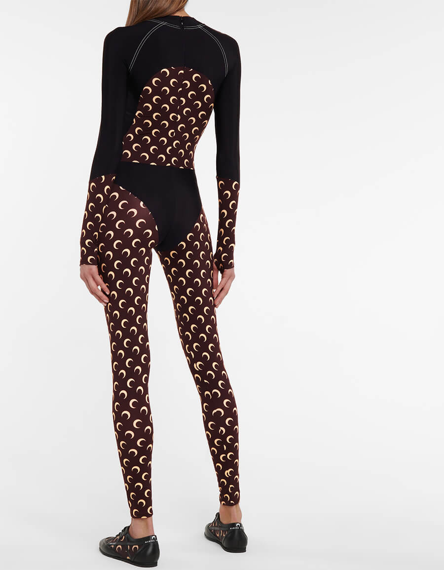MARINE SERRE Exclusive to Mytheresa – Printed stretch jersey jumpsuit
