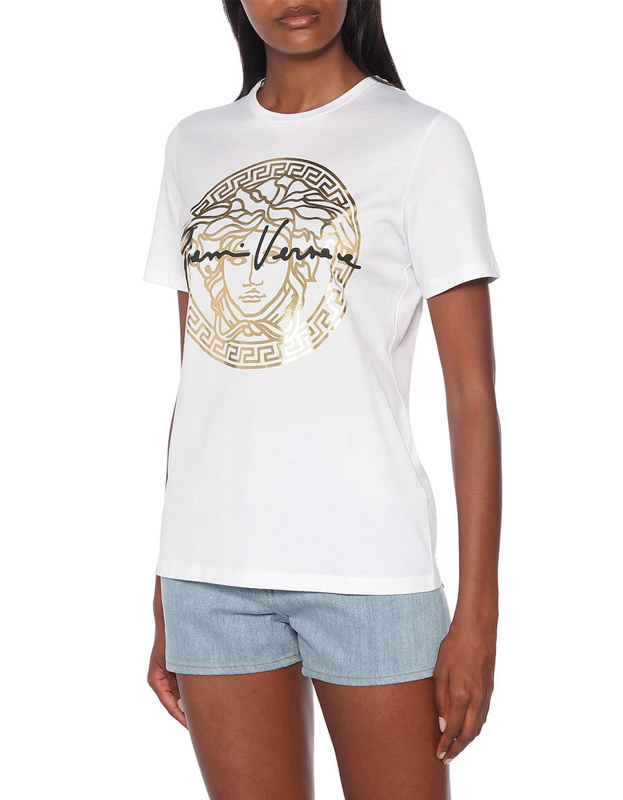 VERSACE GV Signature Medusa cotton T shirt
