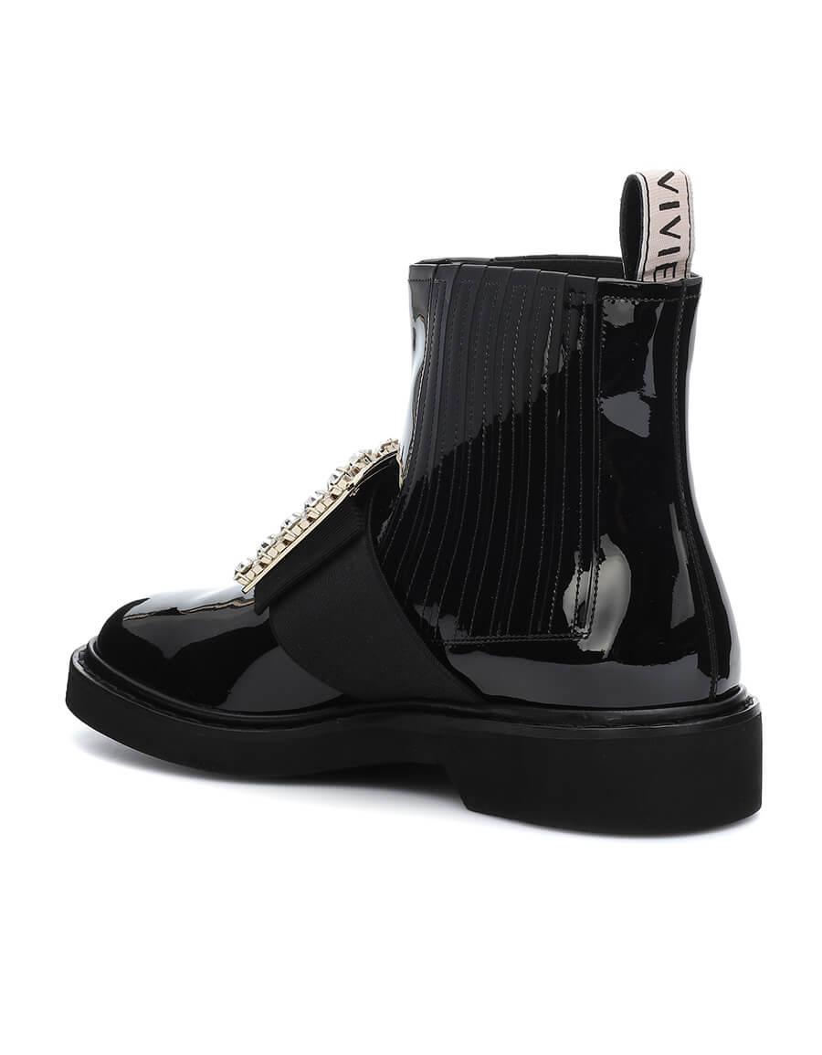 ROGER VIVIER Viv' Rangers patent leather ankle boots