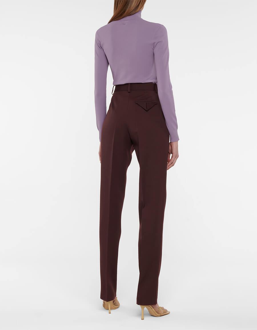BOTTEGA VENETA High rise slim wool pants
