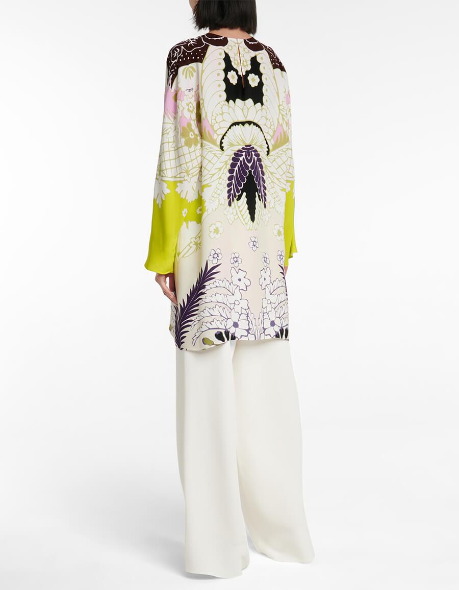 VALENTINO Valentino printed cady minidress