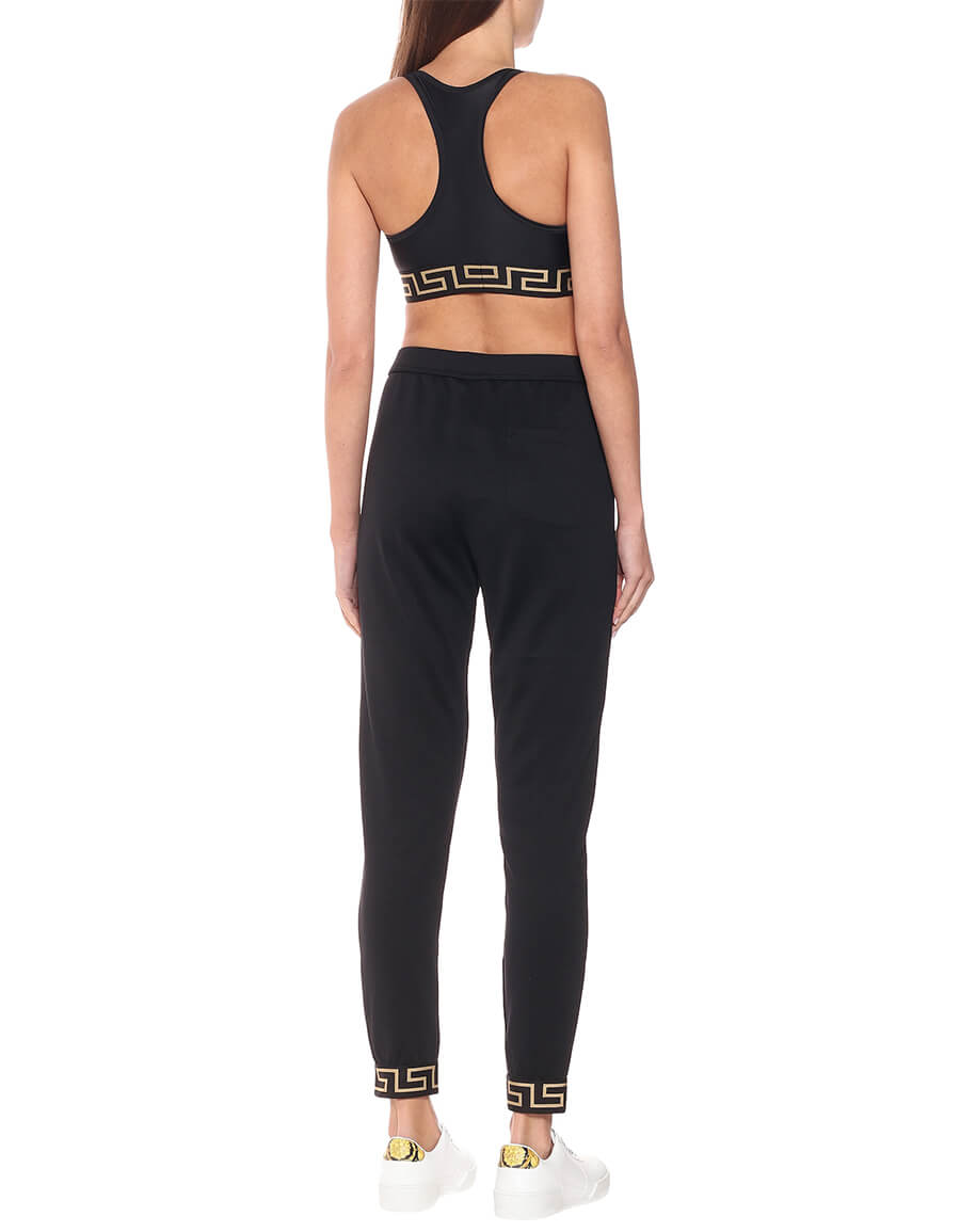 VERSACE Cotton jersey trackpants