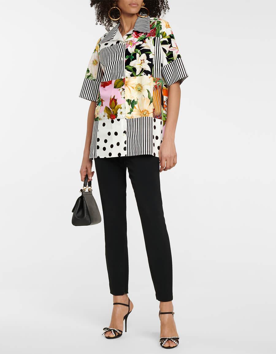 DOLCE & GABBANA Patchwork cotton shirt