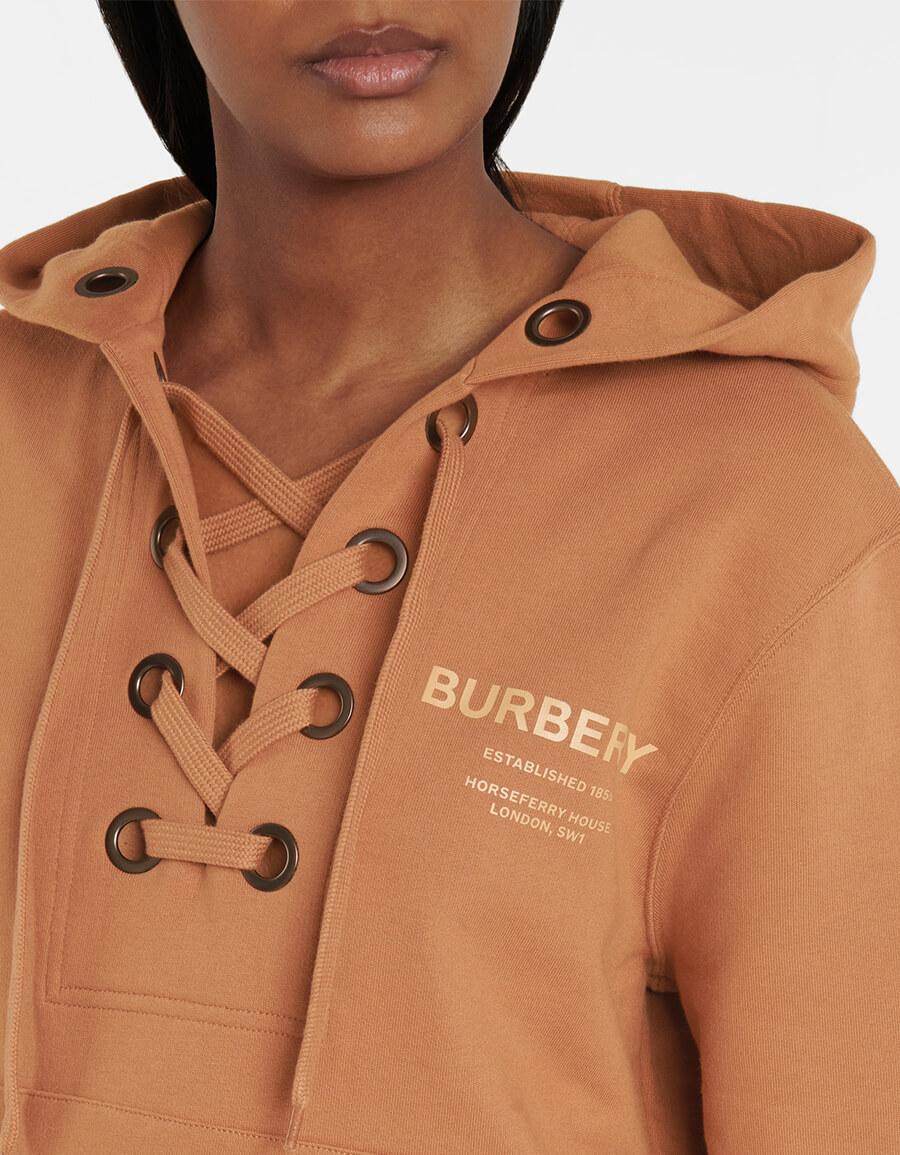 BURBERRY Horseferry organic cotton hoodie