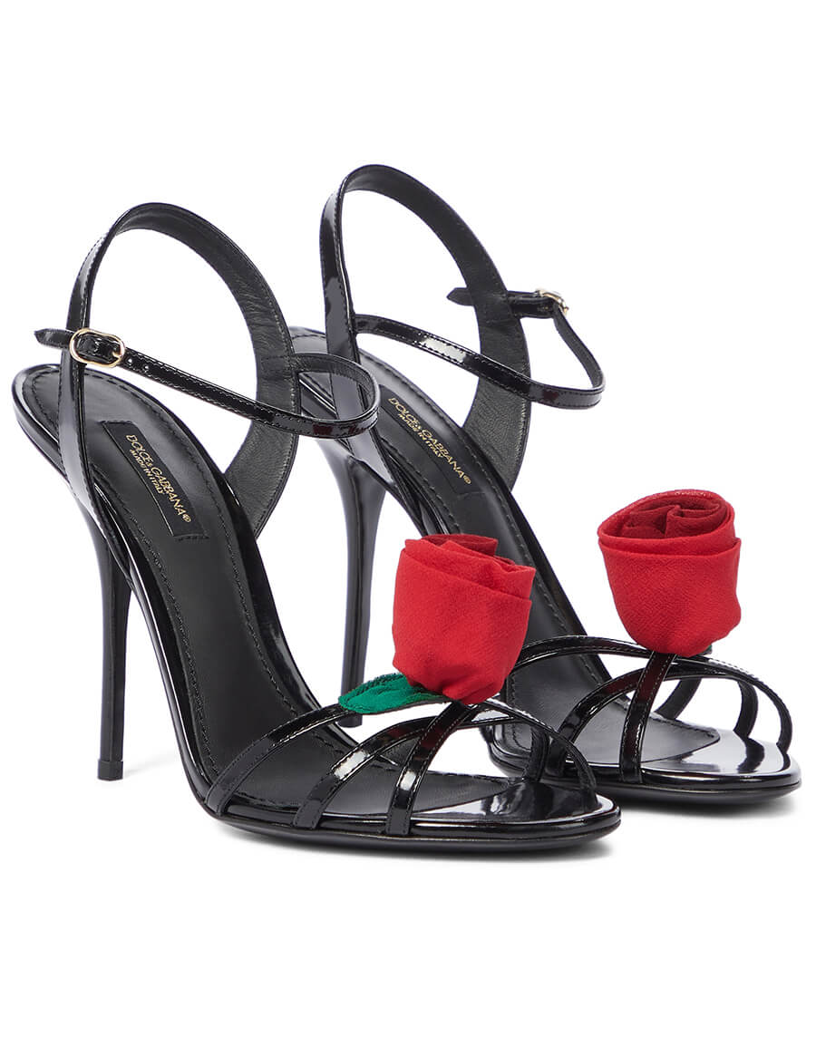 DOLCE & GABBANA Keira patent leather sandals