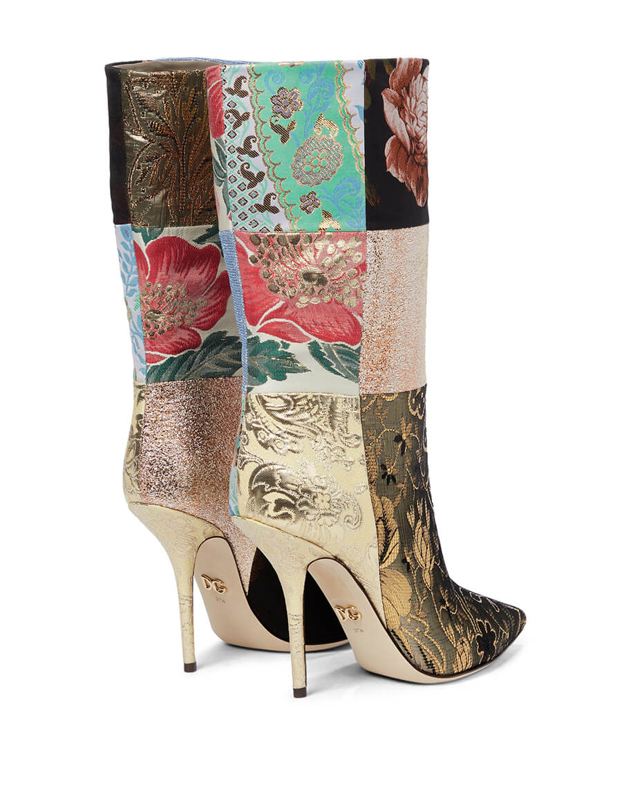 DOLCE & GABBANA Patchwork ankle boots