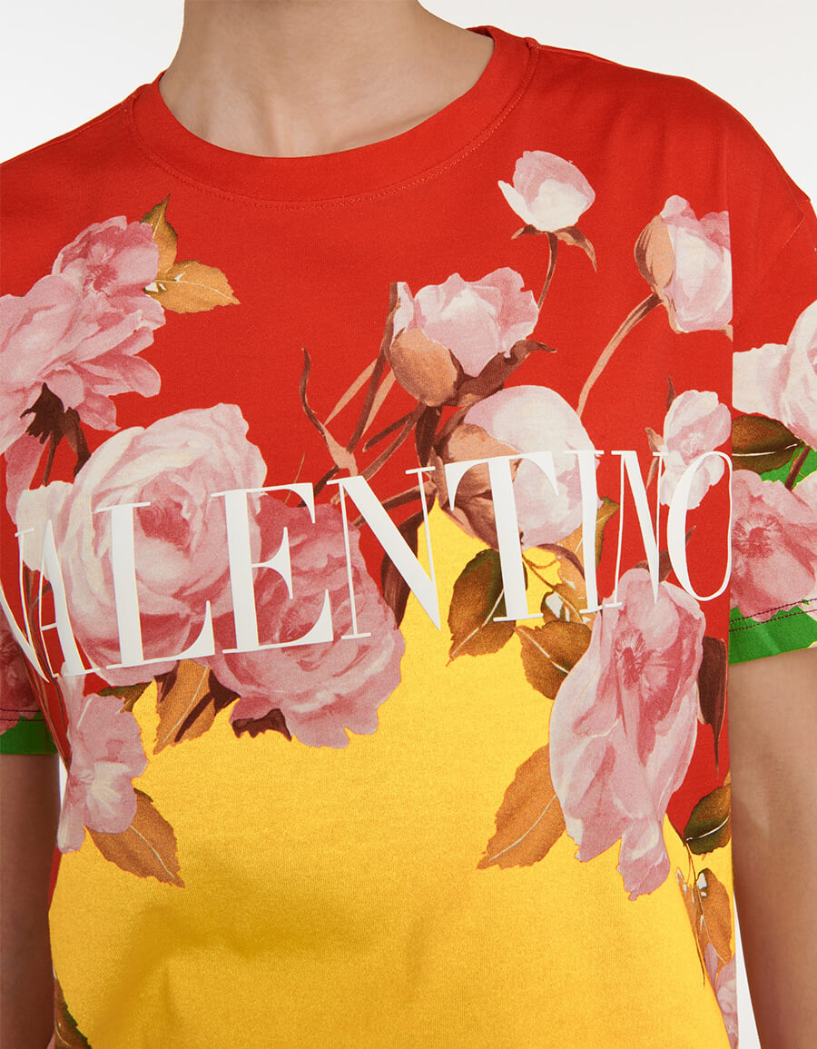 VALENTINO Valentino floral cotton T shirt