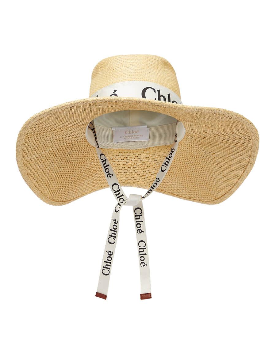 CHLOÉ Woody raffia hat