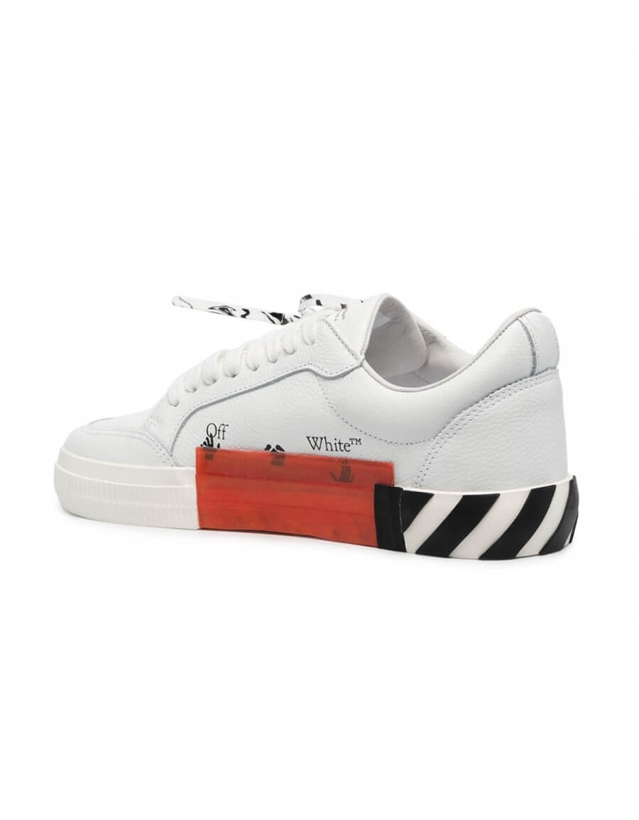 OFF WHITE LOW VULCANIZED LEATHER SNEAKERS