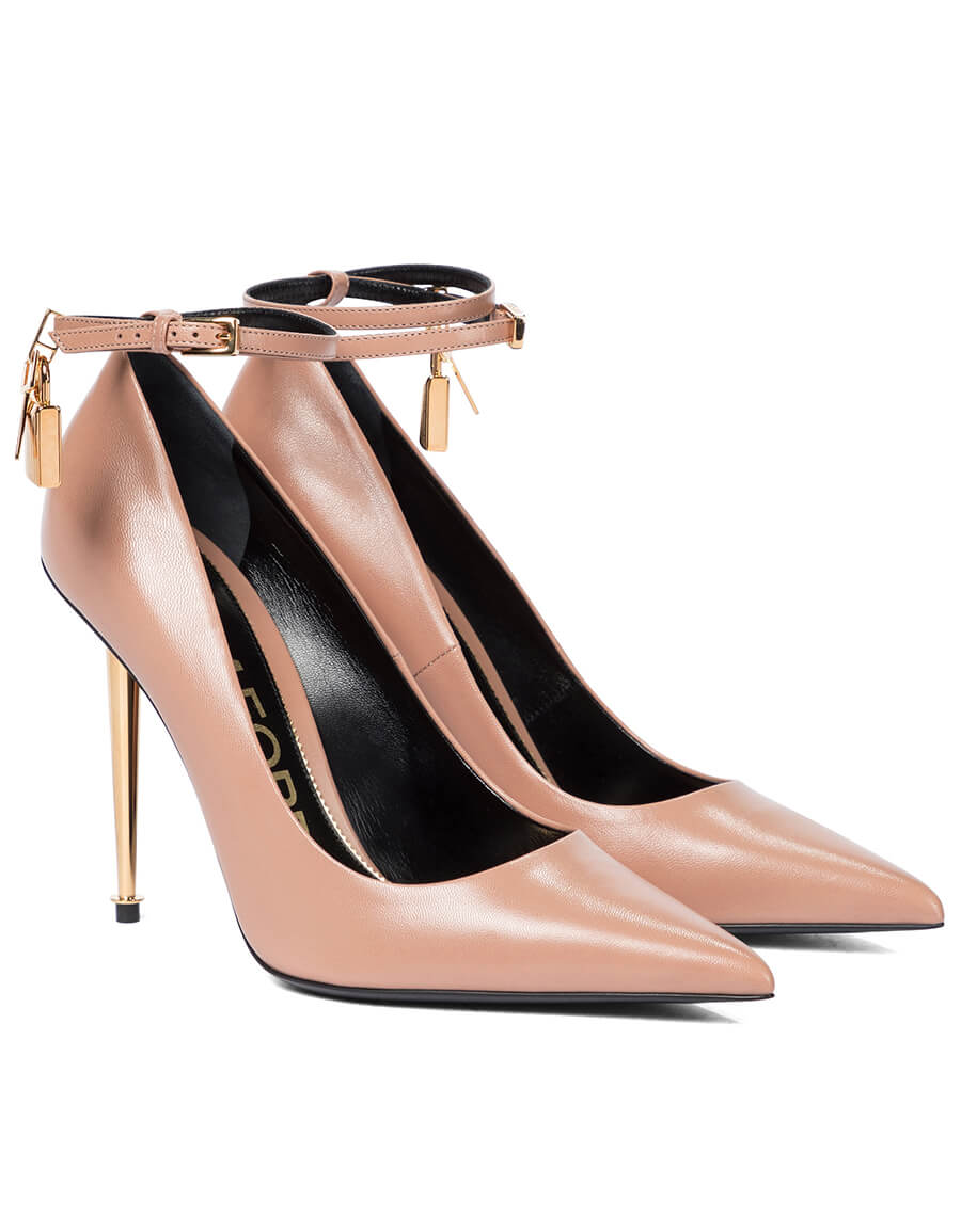 TOM FORD Padlock leather pumps