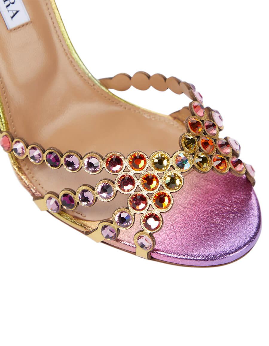 AQUAZZURA Tequila 105 embellished leather sandals