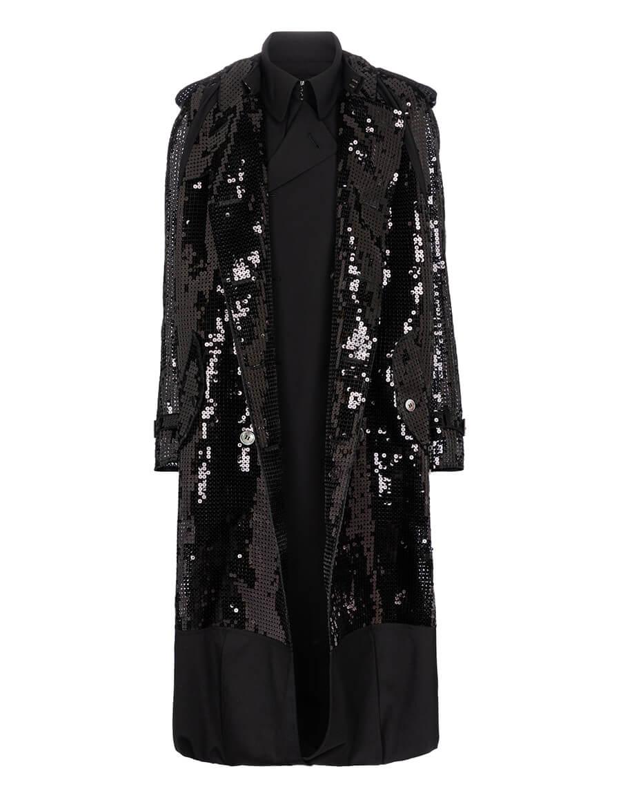 JUNYA WATANABE Sequined wool blend coat