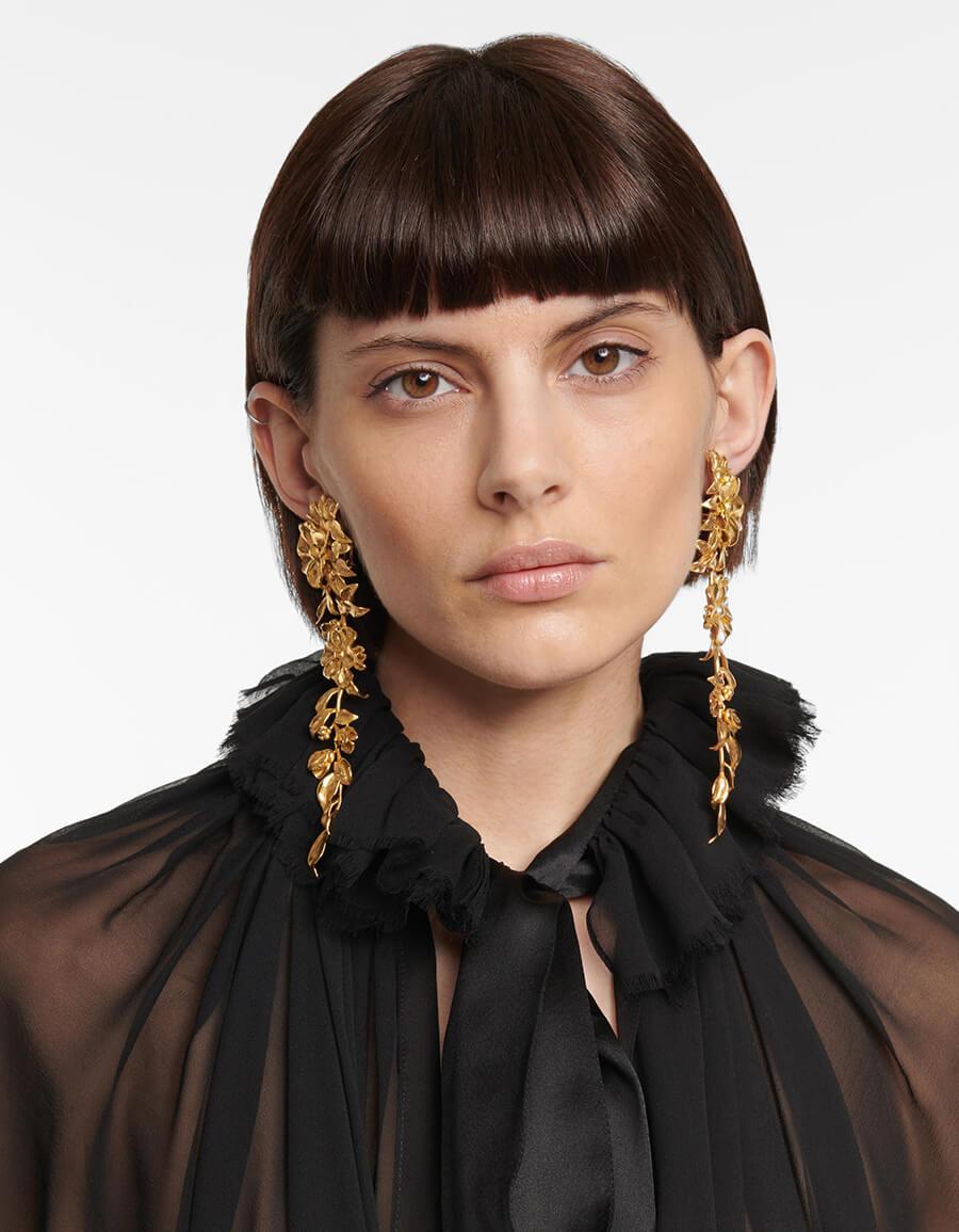 SAINT LAURENT Floral earrings