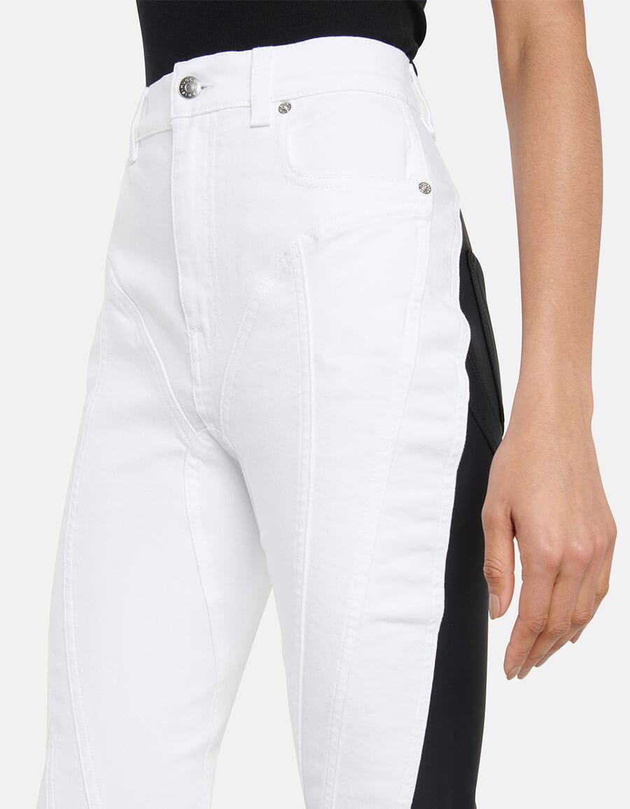 MUGLER High rise slim jeans