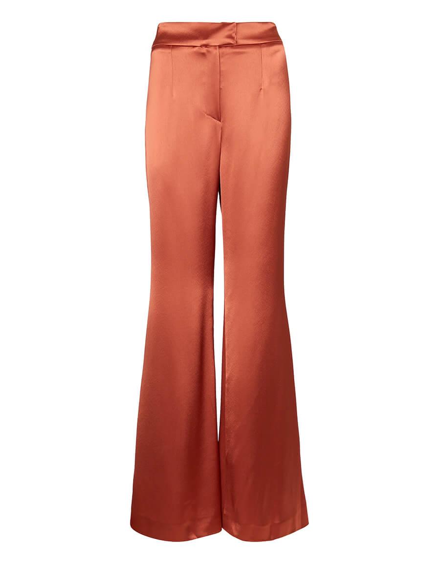 GALVAN Julianne high rise wide satin pants
