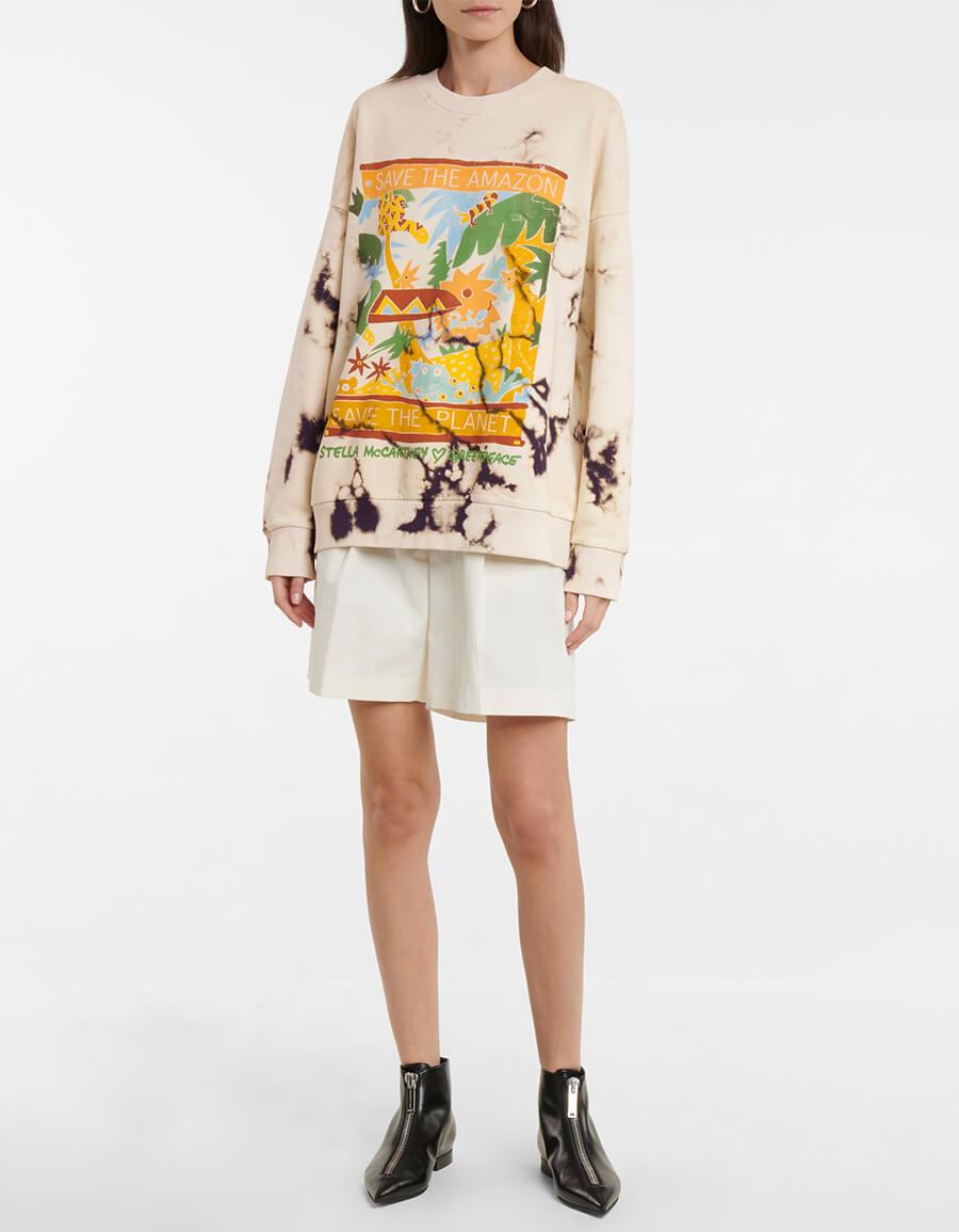 STELLA MCCARTNEY Tie dye organic cotton sweatshirt