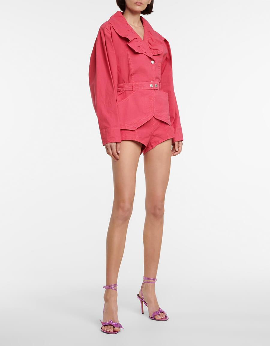 ISABEL MARANT Deverson linen blend shorts