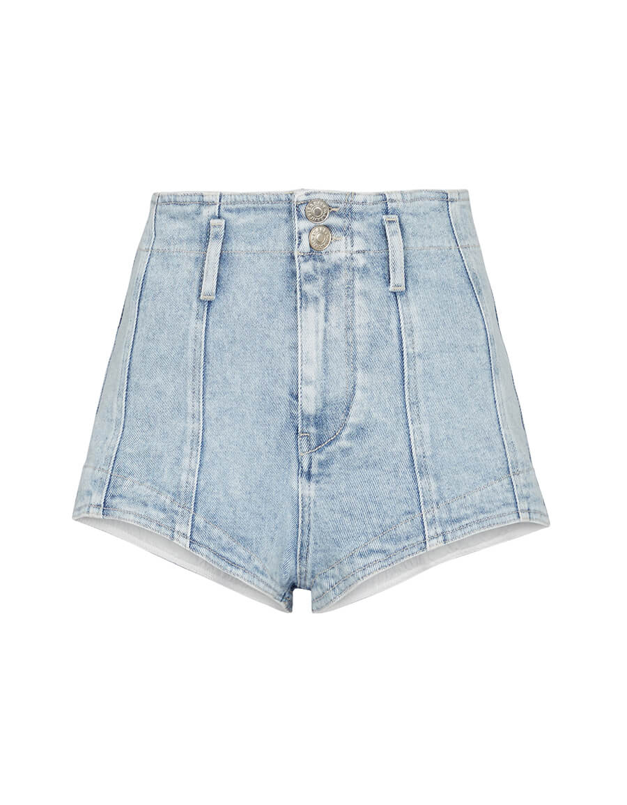 ISABEL MARANT Deverson high rise denim shorts