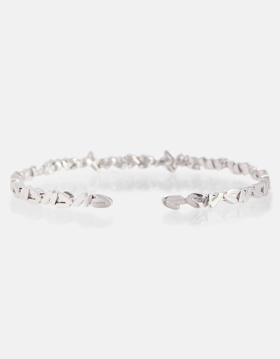 SUZANNE KALAN 18kt white gold cuff bracelet with white diamonds