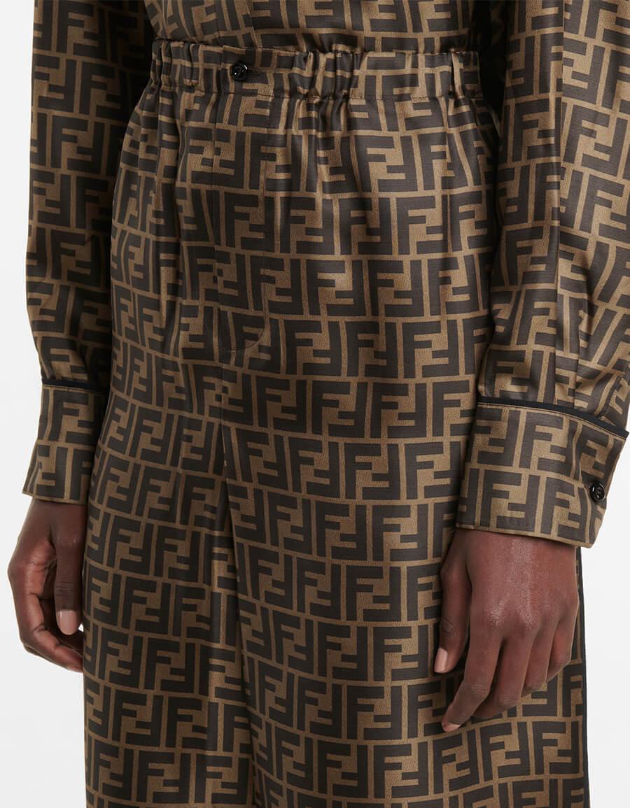 FENDI FF silk shorts
