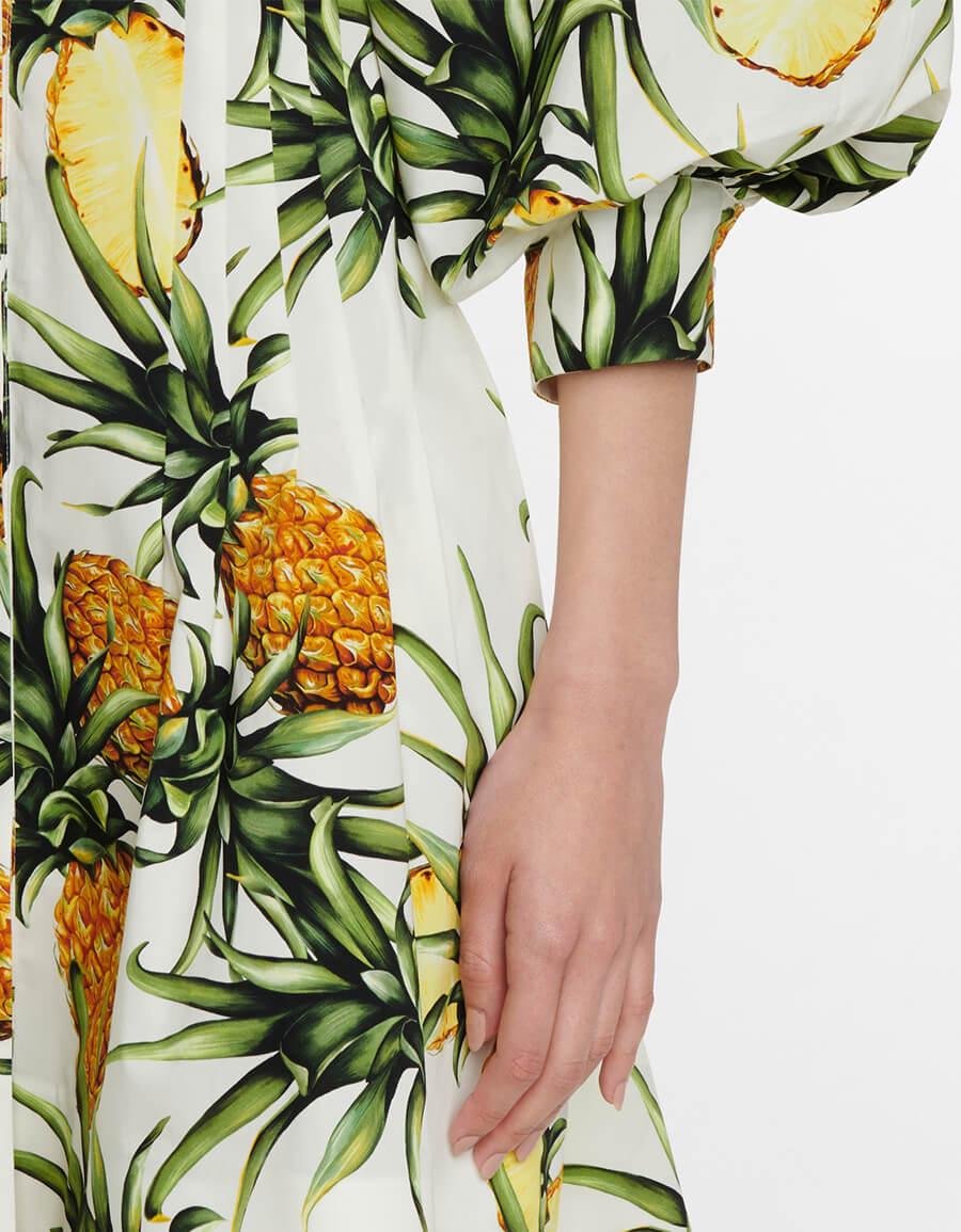 OSCAR DE LA RENTA Printed silk shirt dress