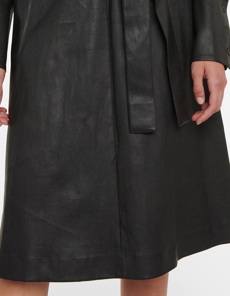 STOULS Ninotchka leather shirt dress