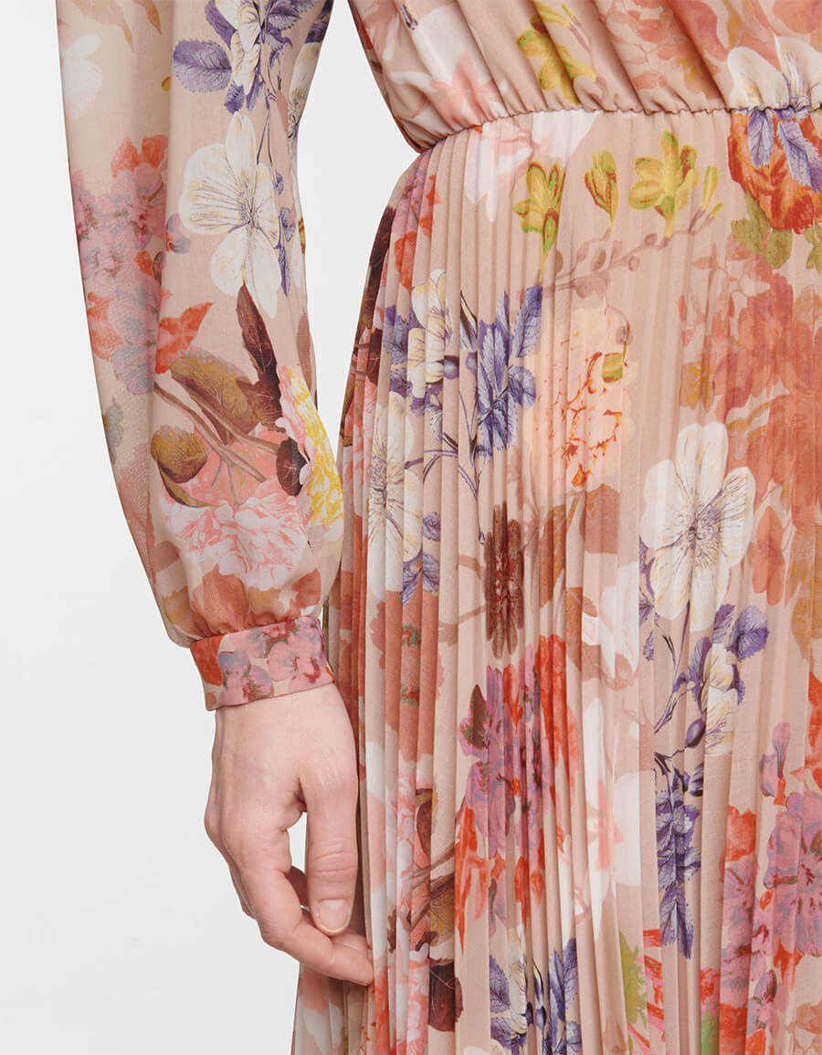 ETRO Floral pleated midi dress