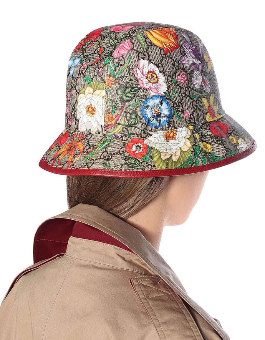GUCCI GG Flora cotton blend bucket hat