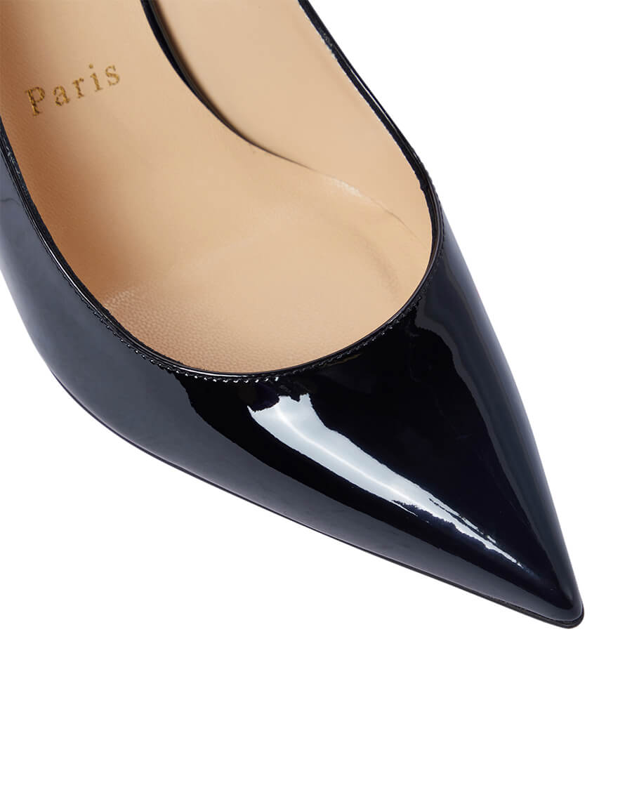 CHRISTIAN LOUBOUTIN Clare Sling 80 patent leather pumps