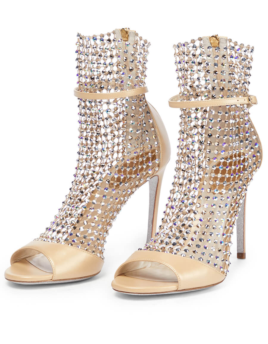 RENE CAOVILLA Galaxia embellished leather sandals