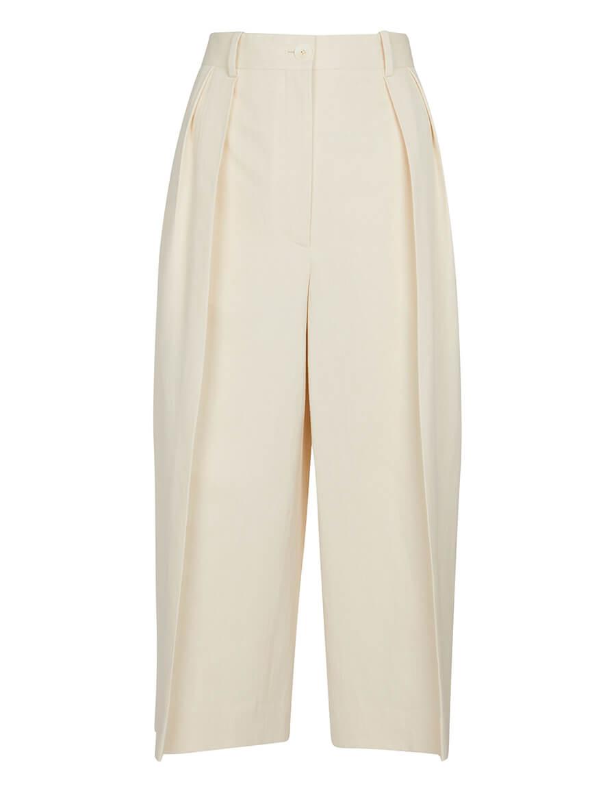 THE ROW Lisa cotton and linen Bermuda shorts