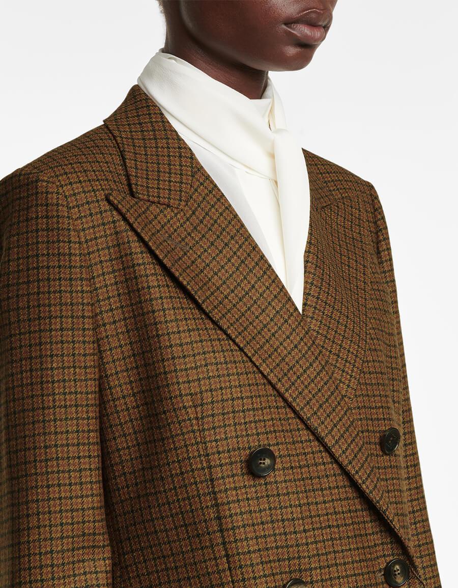 ETRO Checked stretch wool blazer