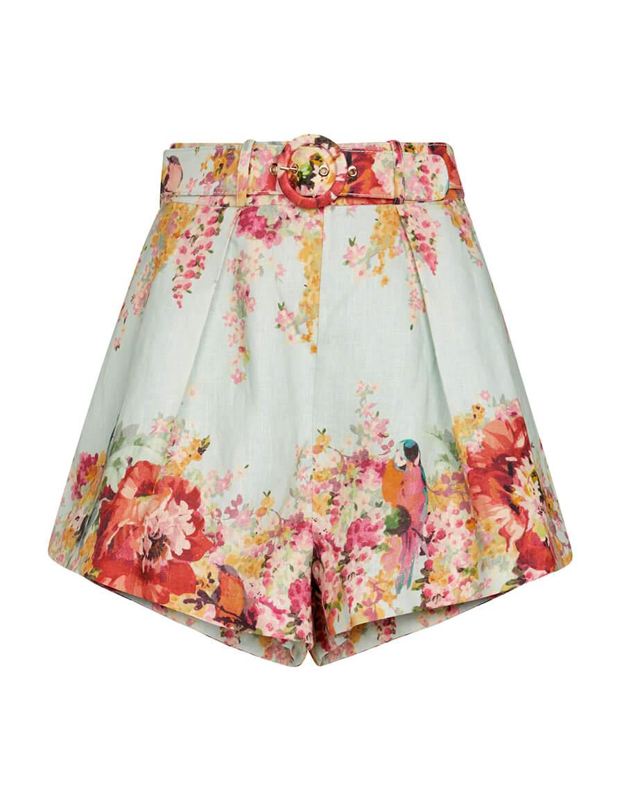 ZIMMERMANN Mae floral linen shorts
