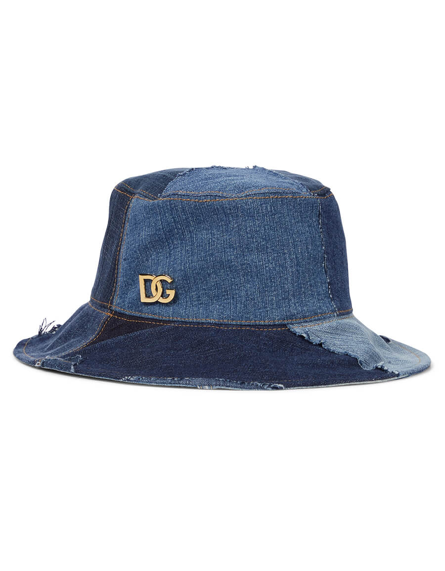 DOLCE & GABBANA Patchwork denim bucket hat
