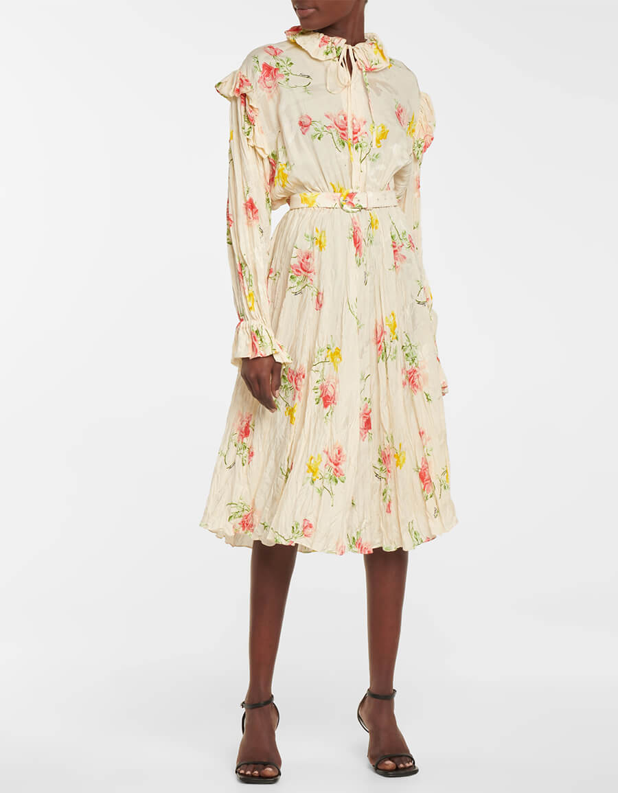 BALENCIAGA Floral silk midi dress