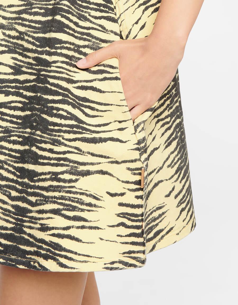 GANNI Tiger print denim minidress